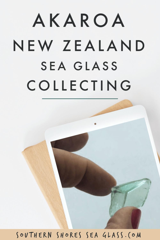 akaroa sea glass collecting pinterest pin