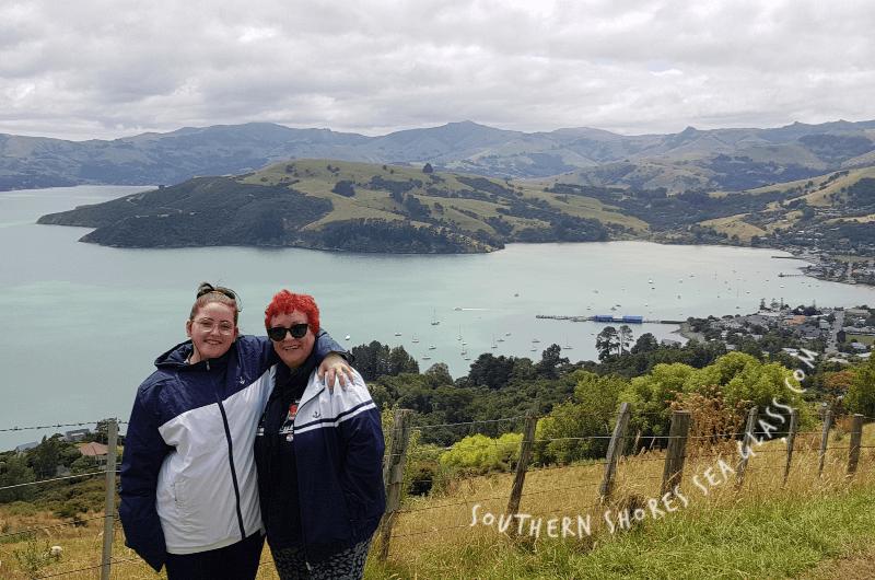 Overlooking the village of Akaroa in New Zealand