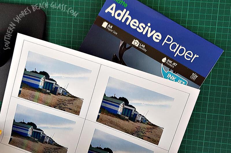 photos printed onto adhesive paper