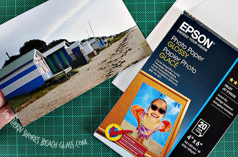 materials used to make the beach card image