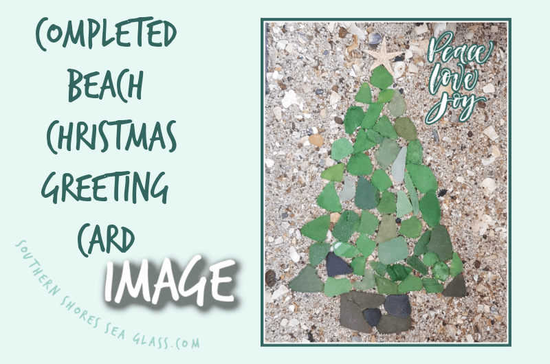 completed beach Christmas card photo