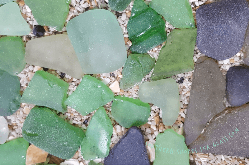 different colored sea glass