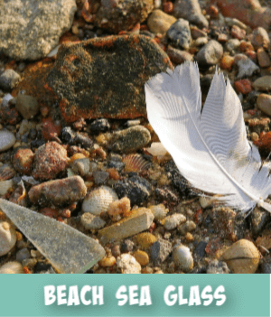 thumbnail image links to site page on beach glass