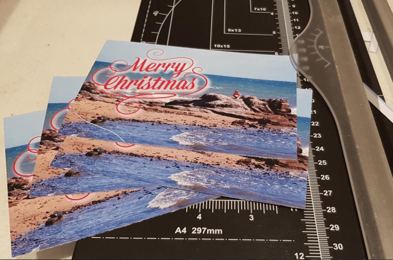 individual beach themed christmas cards