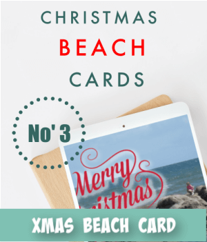 thumbnail image link to site page on christmas beach themed card craft ideas