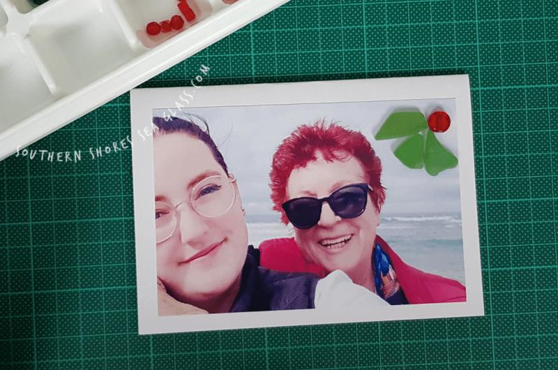Sea Glass holly on the photo card