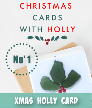 thumbnail image link to site page on christmas cards with holly