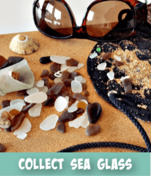 thumbnail image links to site page on sea glass collecting