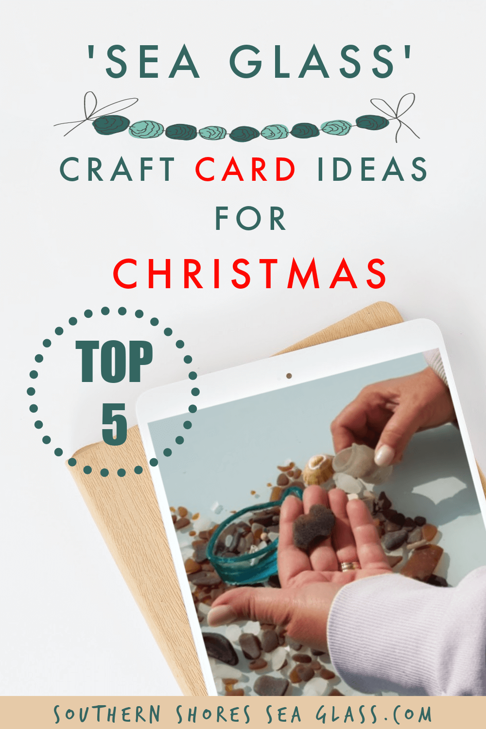 Pinterest pin image for the craft card ideas for christmas site page