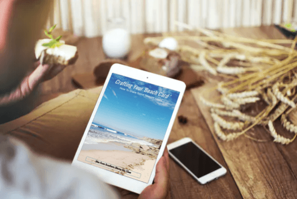 free e-book crafting your beach card