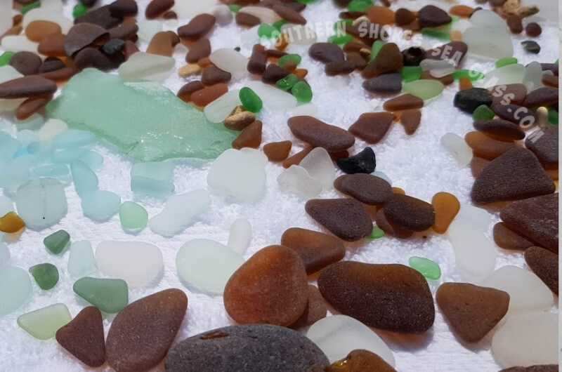 lots of sea glass collected