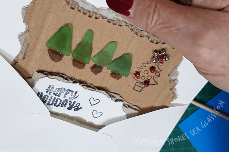 completed christmas tree craft card ideas number 2