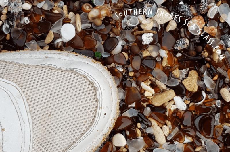 genuine sea glass on Glass Beach Robe South Australia