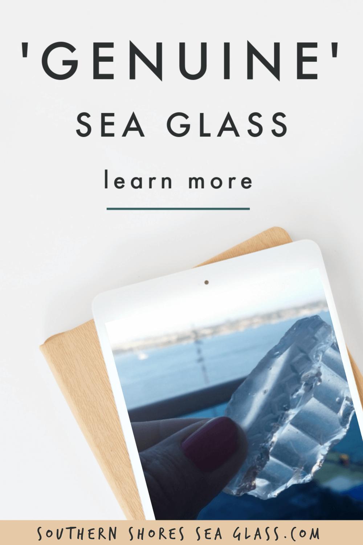 genuine sea glass pinterest pin