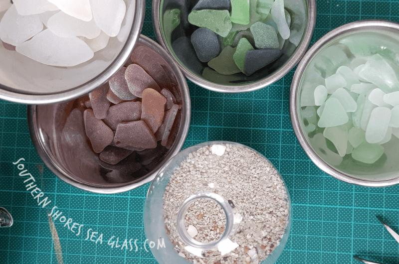 sort the sea glass colors