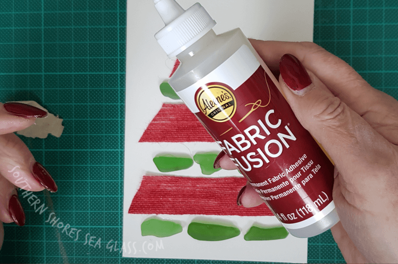 fabric fusion glue for the burlap ribbon