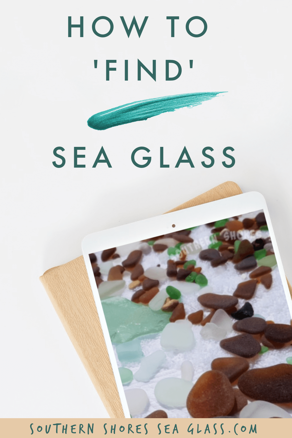 how to find sea glass pinterest pin
