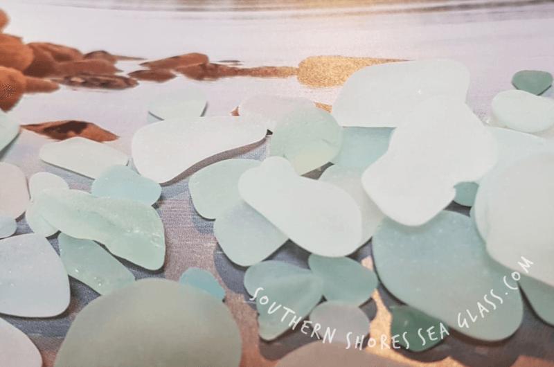seafoam green colored sea glass pieces