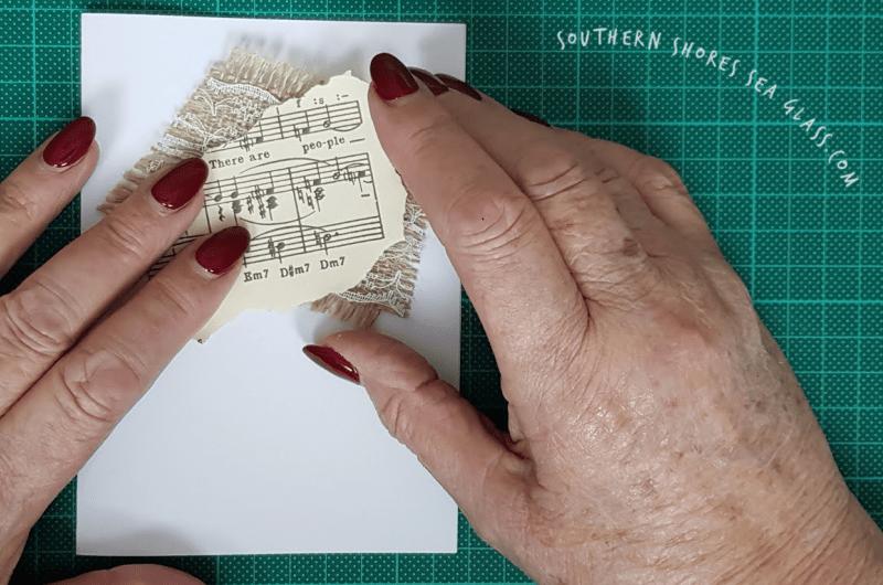 layering the Christmas Holly Card