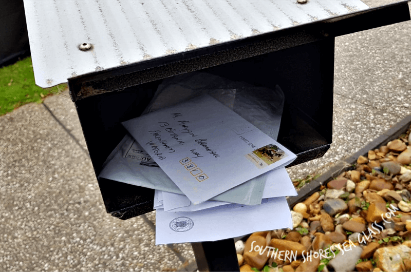 mail in the letterbox
