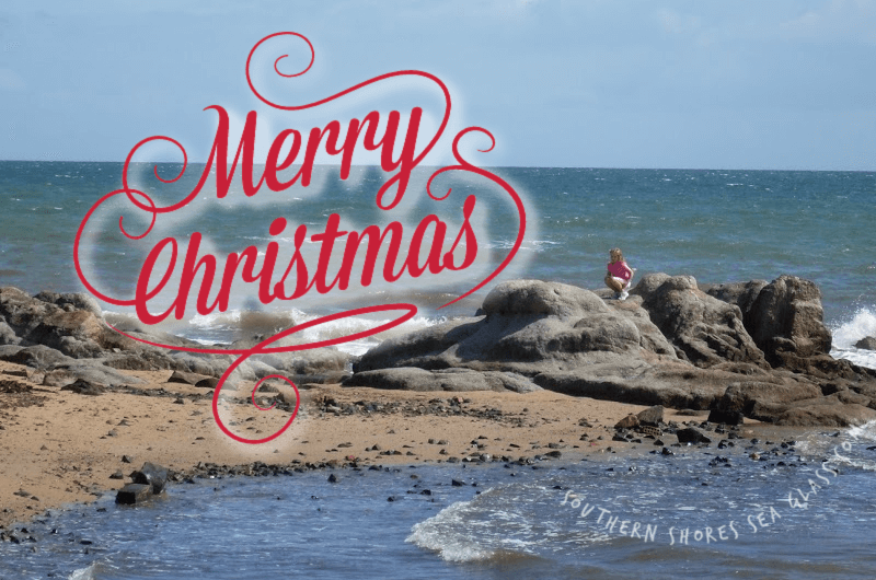 merry christmas from southern shores sea glass