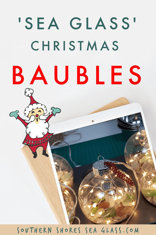 sea glass christmas tree baubles pinterest pin