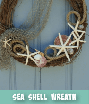 thumbnail image link to site page on  sea shell wreath
