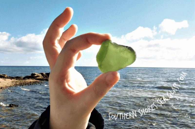 sea glass from frankston beach