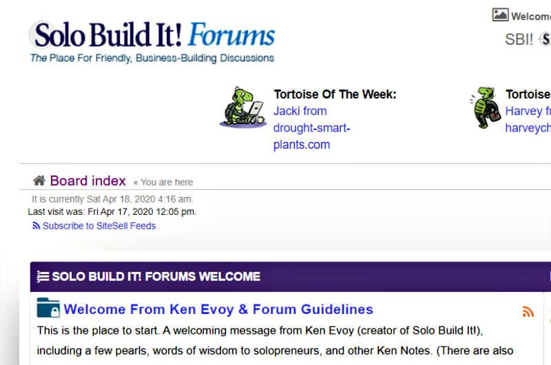 solo build it forum format