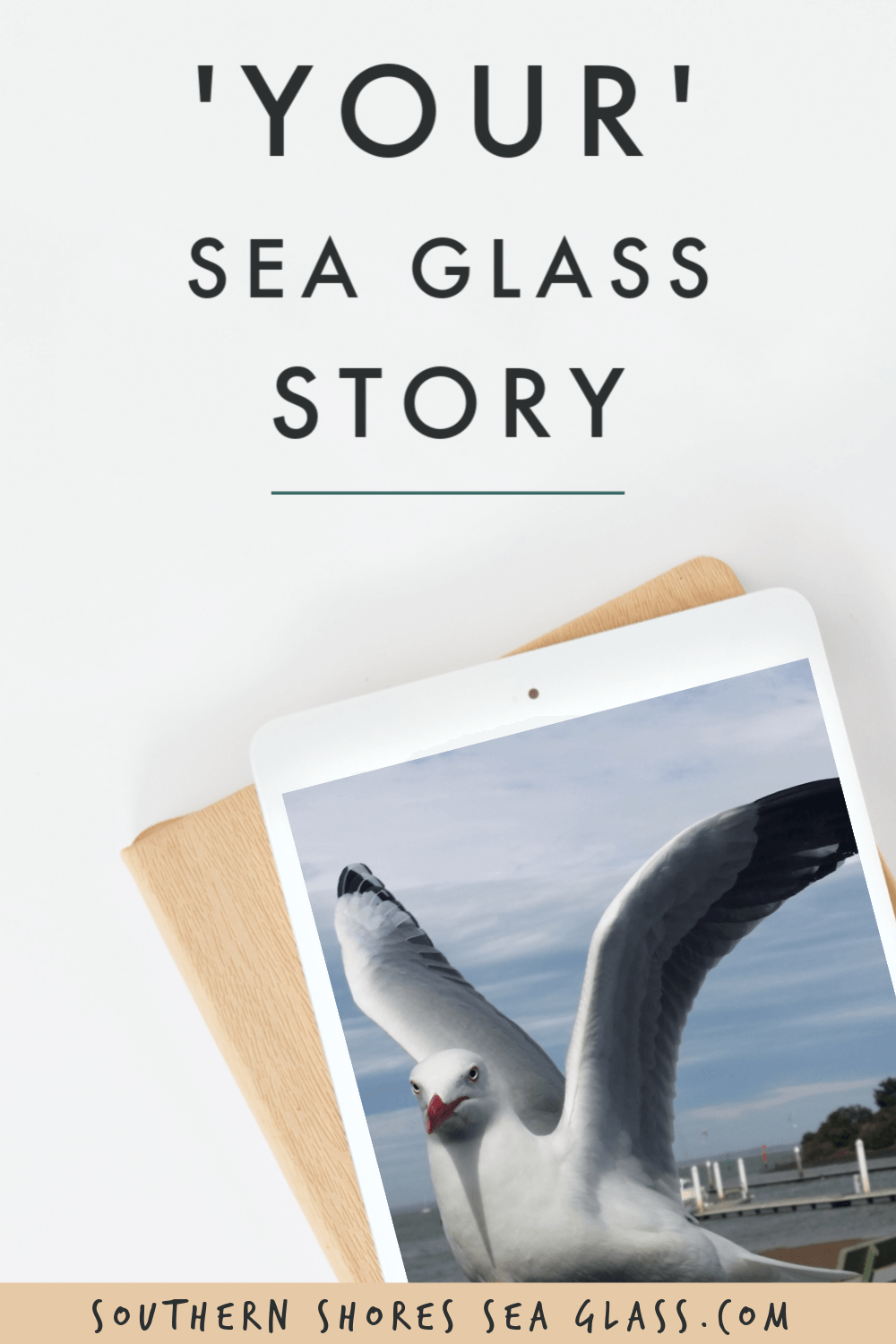 your sea glass story pinterest pin
